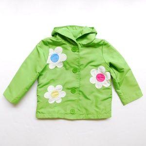 Gymboree Girls 2T/3T Floral Rain Jacket Coat NWT